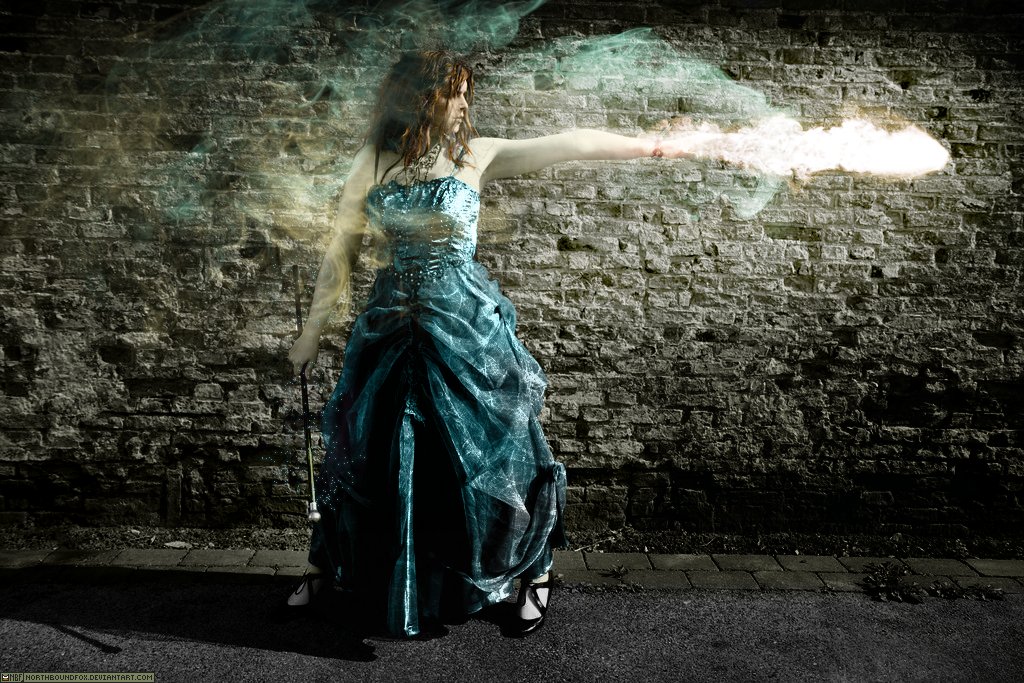 Apparently yes. She's casting Detect Magic and fire's shooting out of her hand!
