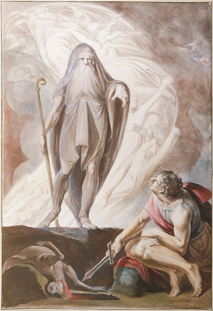 Tiresias tells Odysseus the future during a necromantic ritual in The Odyssey.