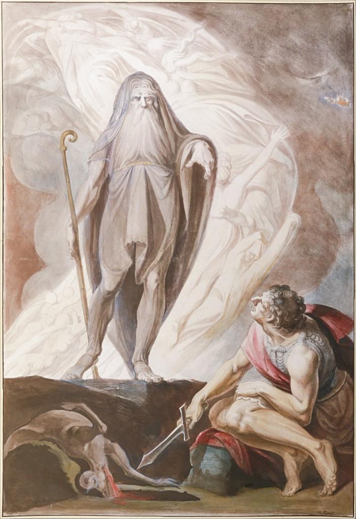 Tiresias tells Odysseus the future during a necromantic ritual in The Odyssey.