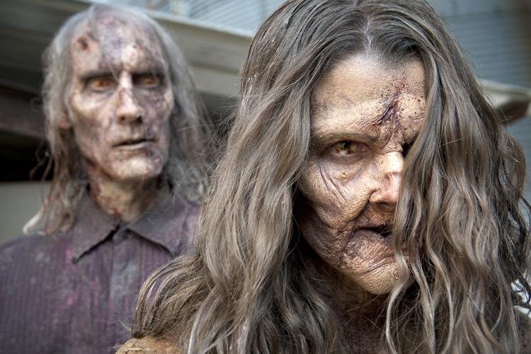"Walkers - The Walking Dead_Season 3, Episode 13_""Arrow on the Doorpost"" - Photo Credit: Gene Page/AMC"